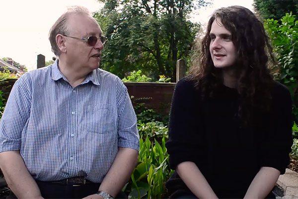 Ryan and his Host Robert talking about YMCA Open Door