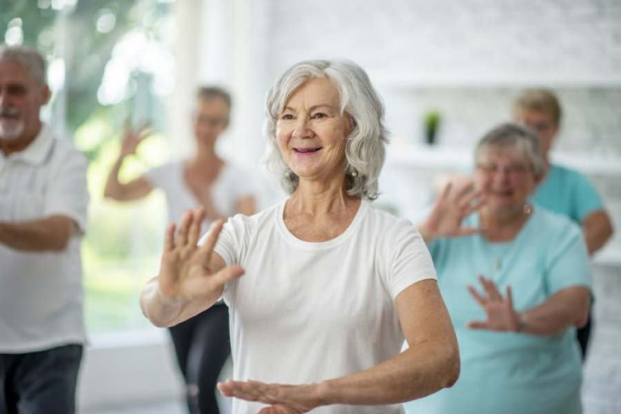 older ladies enjoying a tai chi class at ymca Ygym